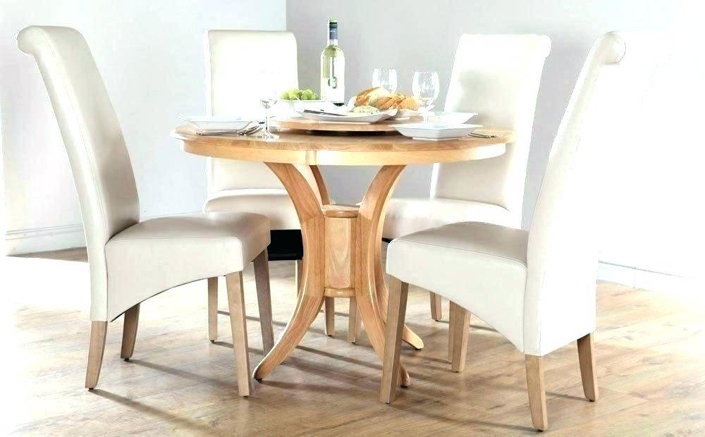 Featured Image of Solid Wood Circular Dining Tables White