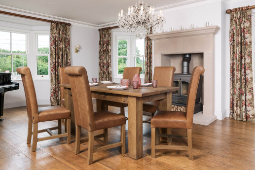Solid Wood & Oak Dining Tables | Rustic & Chunky | Handmade Inside Small Dining Tables With Rustic Pine Ash Brown Finish (View 17 of 25)