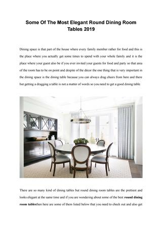 Some Of The Most Elegant Round Dining Room Tables 2019 In Elegance Large Round Dining Tables (Image 23 of 25)