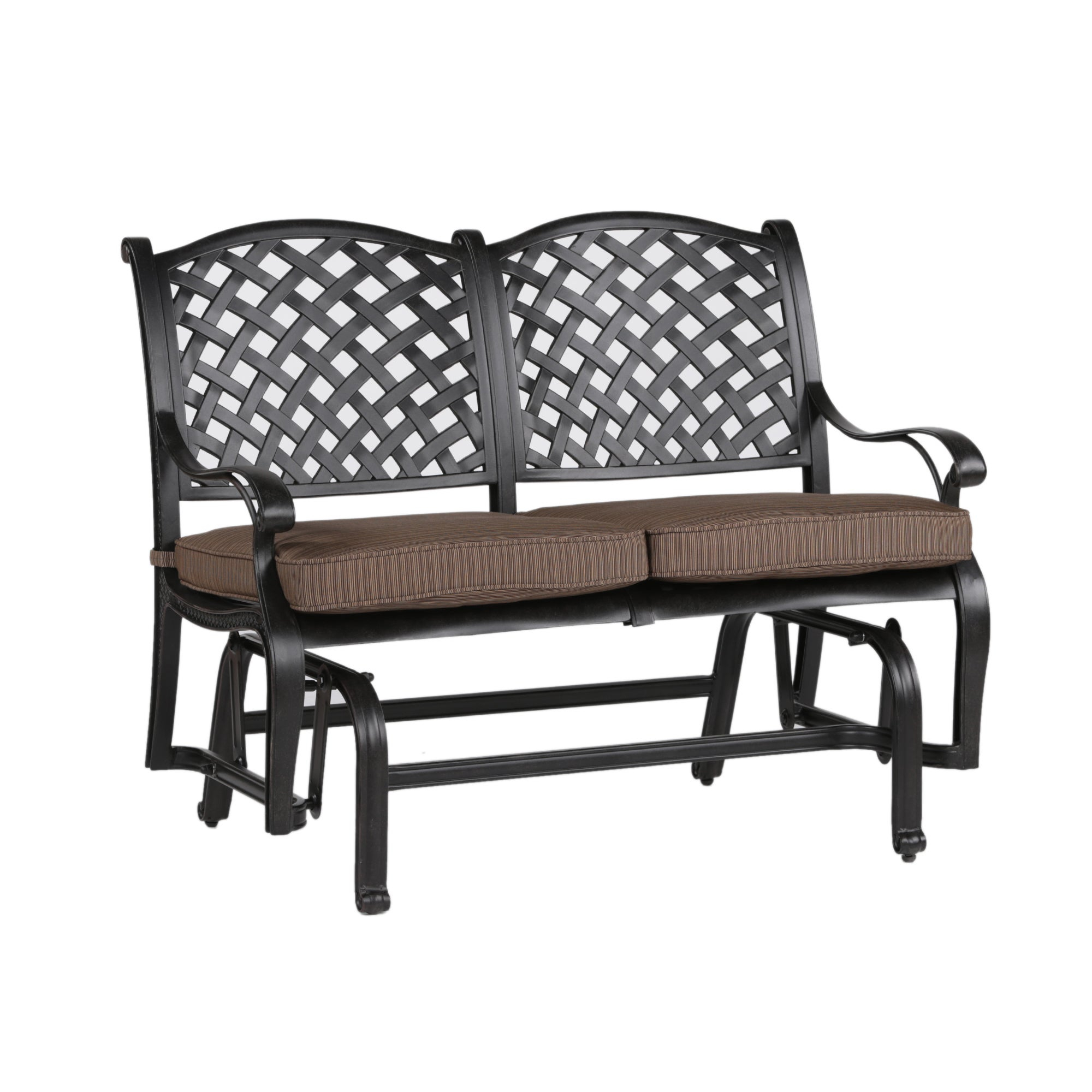 South Ponto Aluminum Bench Glider With Cushion Regarding Cushioned Glider Benches With Cushions (View 5 of 27)