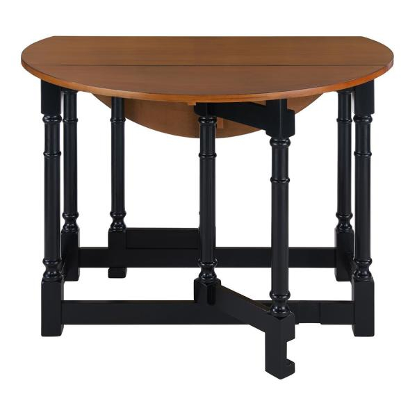Southern Enterprises Challa 1 Piece Black Drop Leaf Dining Regarding Unfinished Drop Leaf Casual Dining Tables (View 22 of 25)