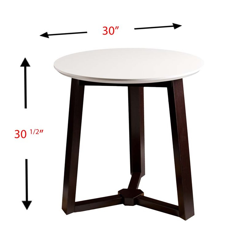 Southern Enterprises Kayla Round Dining Table In Espresso With Regard To Alamo Transitional 4 Seating Double Drop Leaf Round Casual Dining Tables (View 20 of 25)