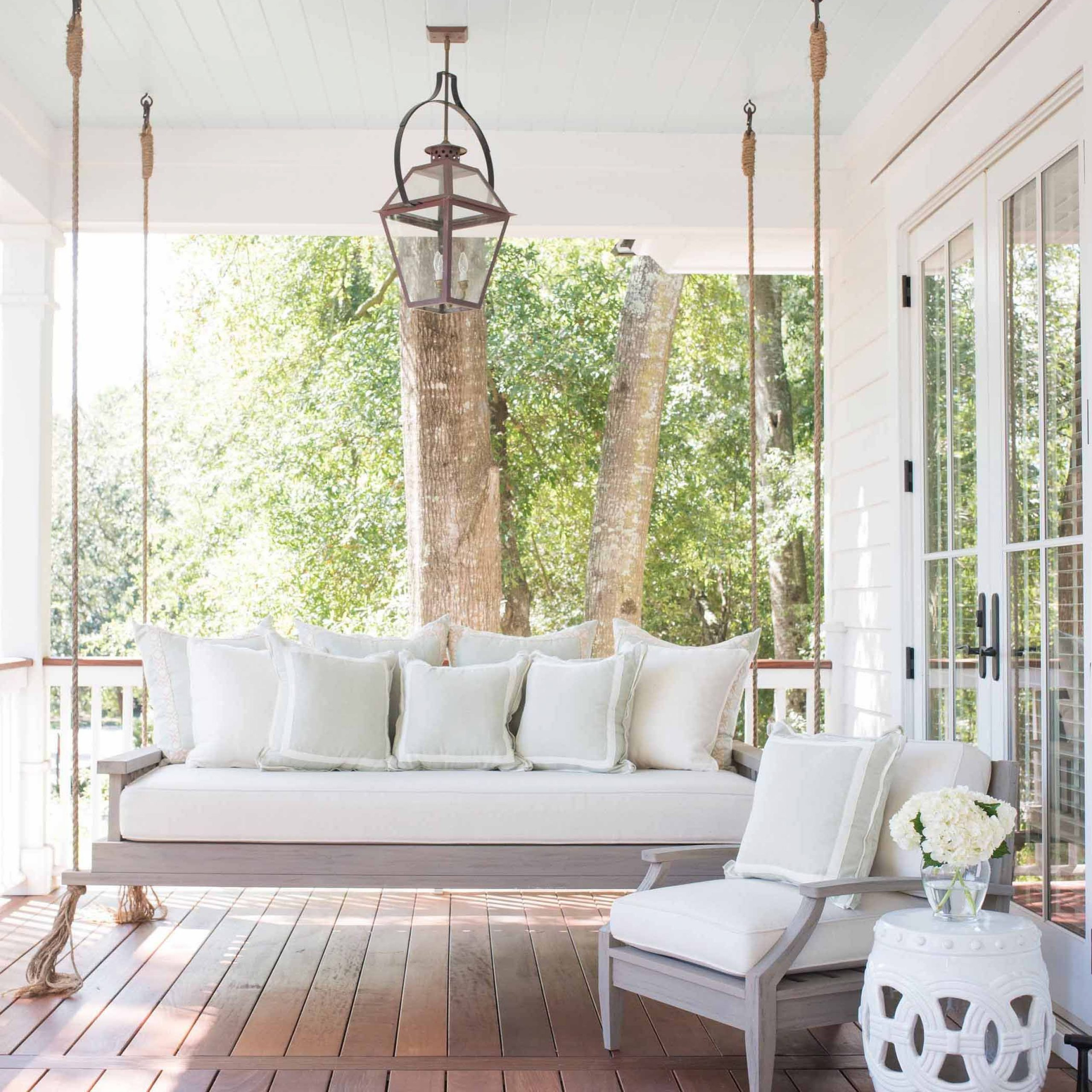 Southern Home Decor Inspiration | Patios And Porches With Patio Hanging Porch Swings (View 5 of 25)
