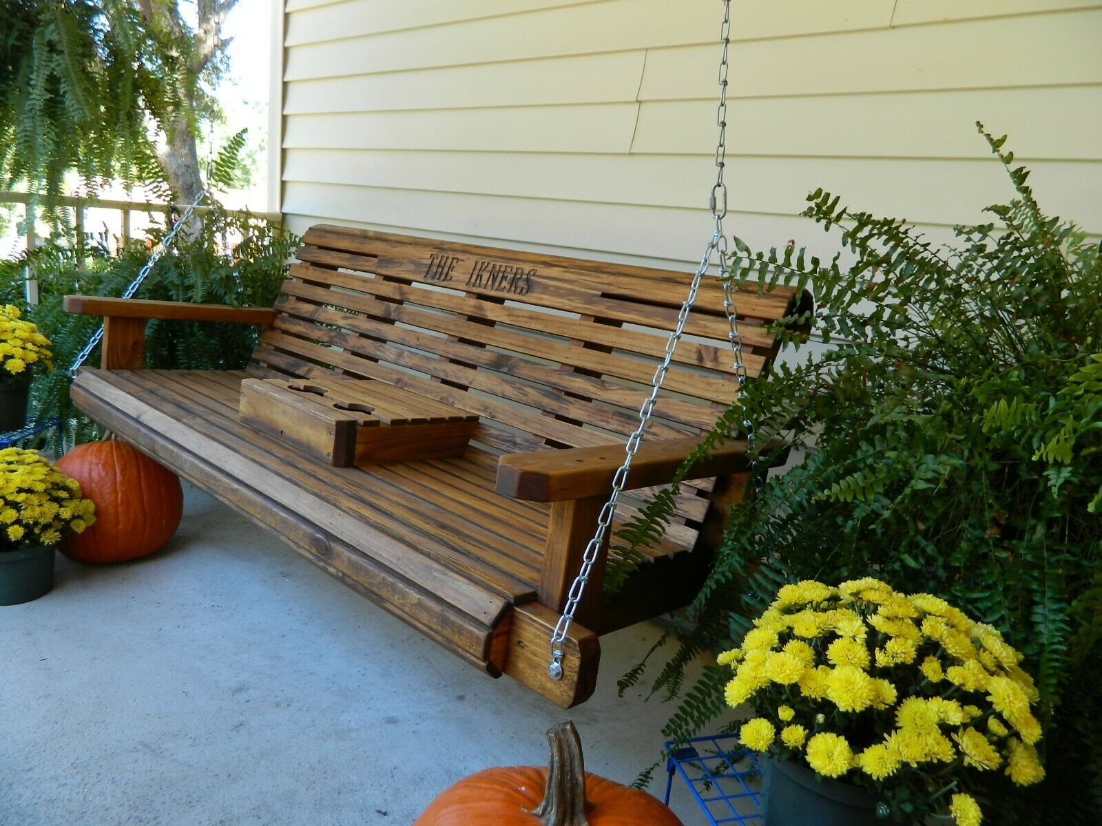 Southern Swings Handmade 5Ft Heavy Duty Porch Or Patio Swing Inside Center Table Double Glider Benches (View 16 of 25)