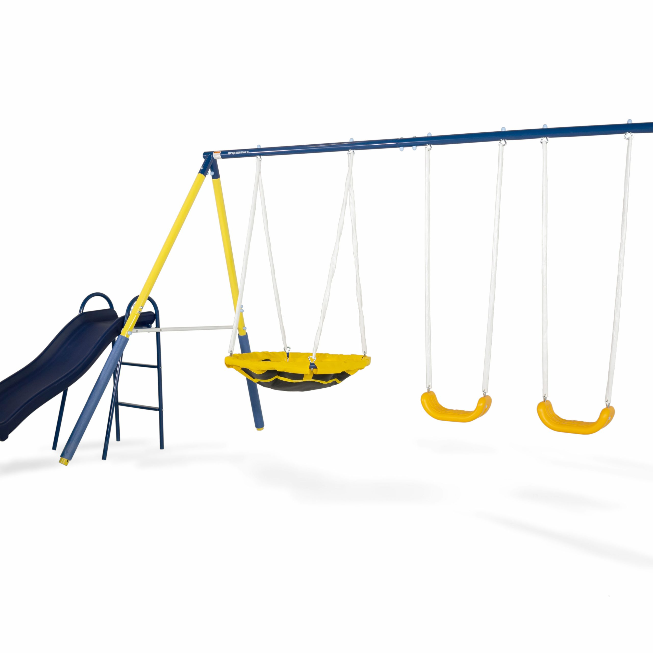 Sportspower Super Saucer Metal Swing Set With 2 Swings For Dual Rider Glider Swings With Soft Touch Rope (View 11 of 25)
