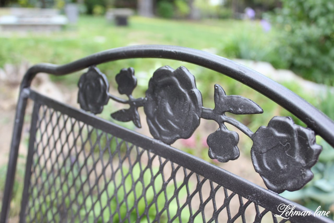 Spray Paint Patio Furniture – Our Vintage Wrought Iron Patio With Regard To 1 Person Antique Black Iron Outdoor Swings (View 19 of 25)