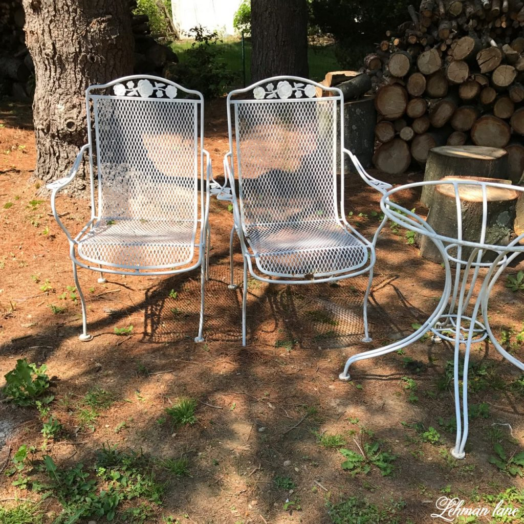 Spray Paint Patio Furniture – Our Vintage Wrought Iron Patio Within 1 Person Antique Black Iron Outdoor Swings (View 15 of 25)