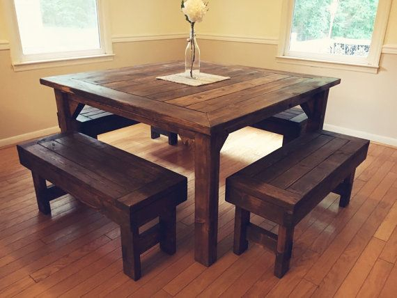 Square Farmhouse Table | Farmhouse Style Table, Farmhouse With Small Rustic Look Dining Tables (Image 22 of 25)