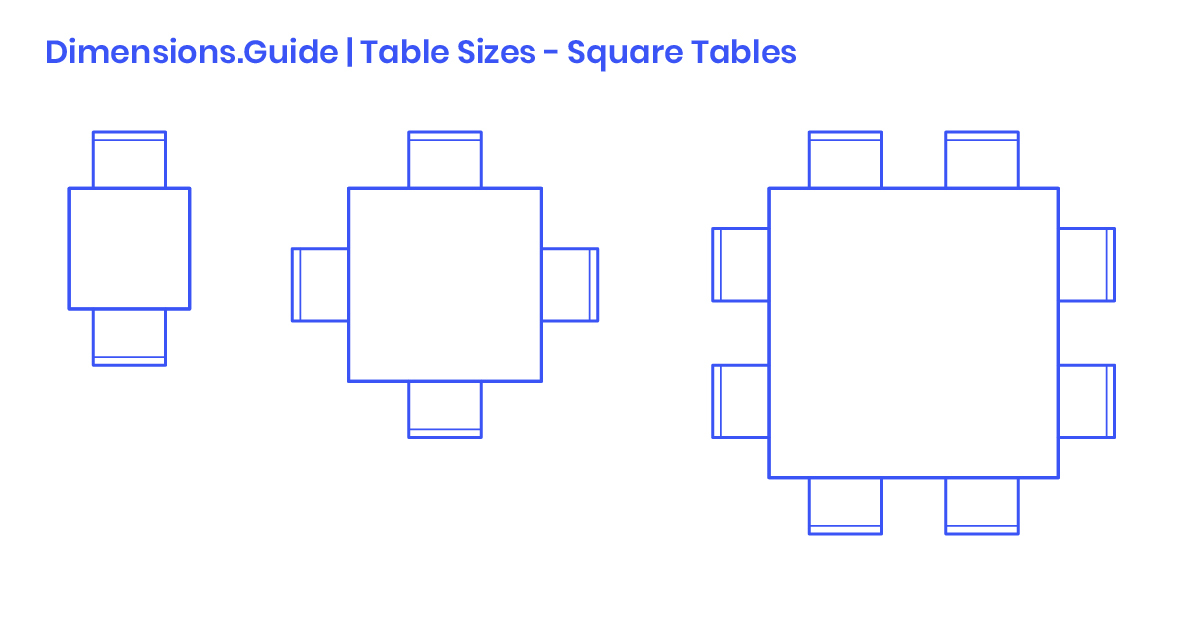 Square Table Sizes Dimensions & Drawings | Dimensions (View 19 of 25)