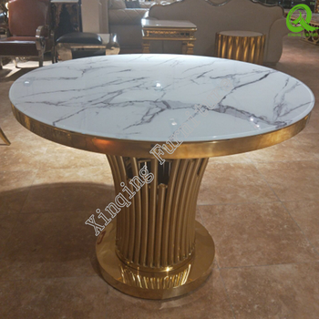 Stainless Steel Base Glass Top Small Round Dining Table – Buy Small Round Dining Table,cheap Small Round Dining Table,round Rotating Dining Table Throughout Round Dining Tables With Glass Top (View 20 of 25)