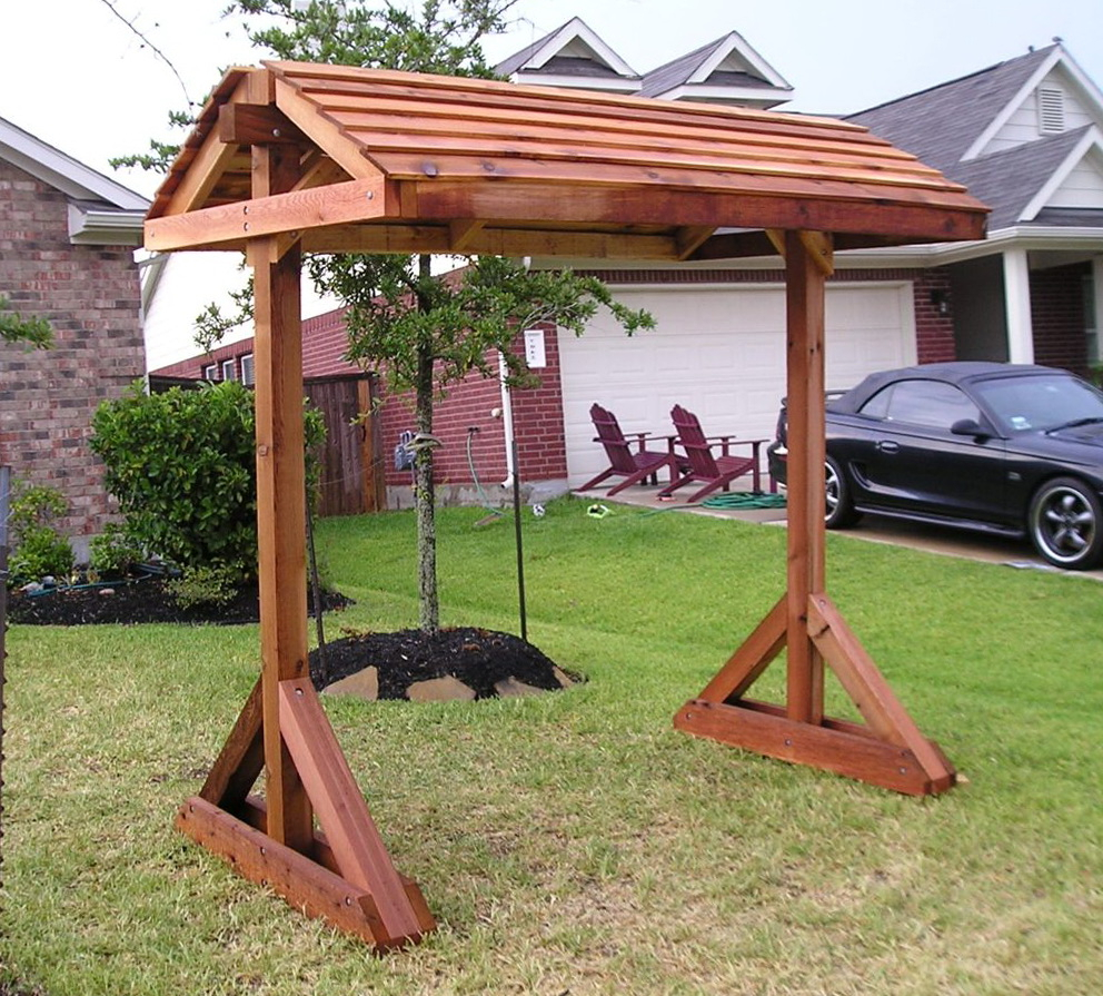 Standing Porch Swing Plans And Landscape Outdoor Stands In Pergola Porch Swings With Stand (View 7 of 26)