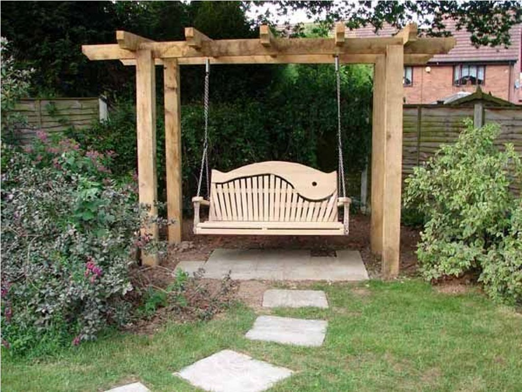 Standing Porch Swing Stand Outdoor Pergola Stands Home Intended For Pergola Porch Swings With Stand (View 16 of 26)