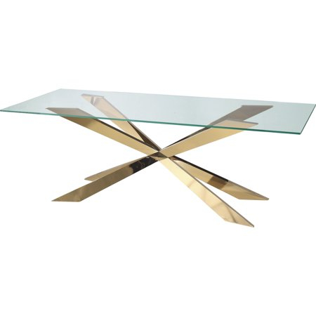 Featured Image of Modern Gold Dining Tables With Clear Glass