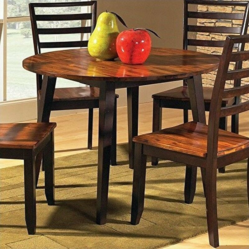 Steve Silver Company Abaco Double Drop Leaf Round Casual Acacia Dining Table Throughout Unfinished Drop Leaf Casual Dining Tables (View 9 of 25)