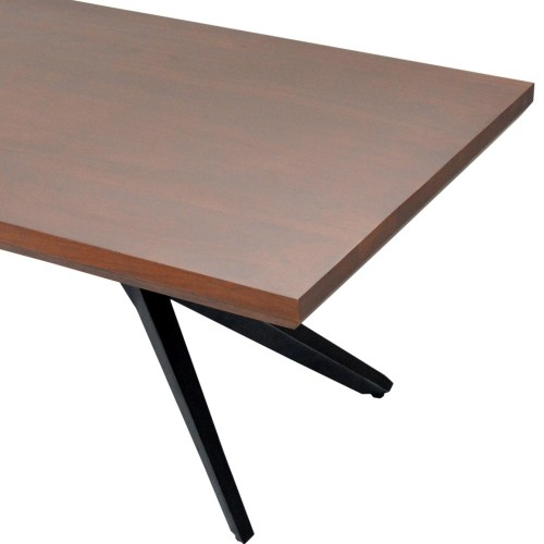 Streamline Coffee Table Acacia Wood/sheet Metal Base/50*24*18 In Acacia Wood Dining Tables With Sheet Metal Base (View 14 of 25)