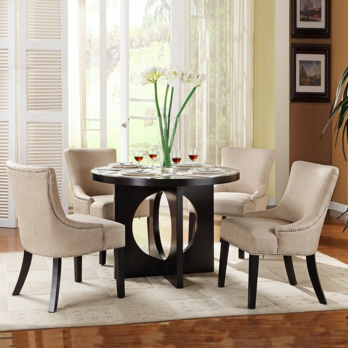 Stylish Round White Dining Table Set Dining Room Tables Regarding Small Round Dining Tables With Reclaimed Wood (View 25 of 25)