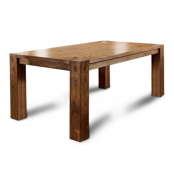 Sun & Pine Arsenio Sturdy Wooden Dining Bench Dark Oak – Sun Pertaining To Transitional 8 Seating Rectangular Helsinki Dining Tables (Image 21 of 25)