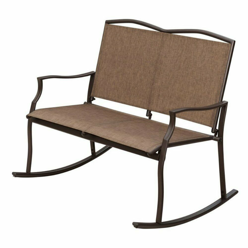 Sunlife Garden Party Sling Loveseat Double Outdoor Rocking Chair Inside Sling Double Glider Benches (View 15 of 25)