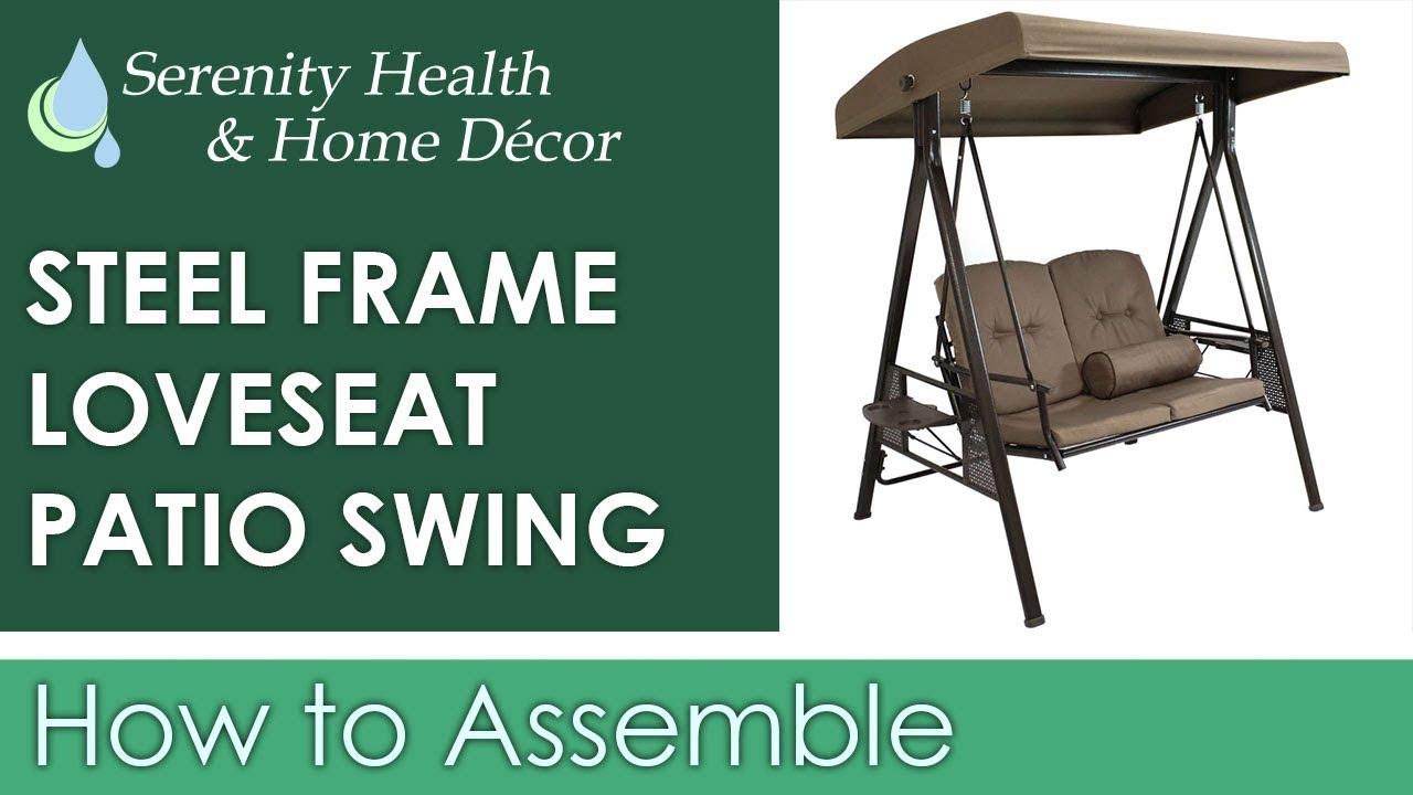 Sunnydaze 2 Person Outdoor Adjustable Tilt Canopy Patio Loveseat Swing – Beige – Lr 629 Throughout 2 Person Adjustable Tilt Canopy Patio Loveseat Porch Swings (View 7 of 25)
