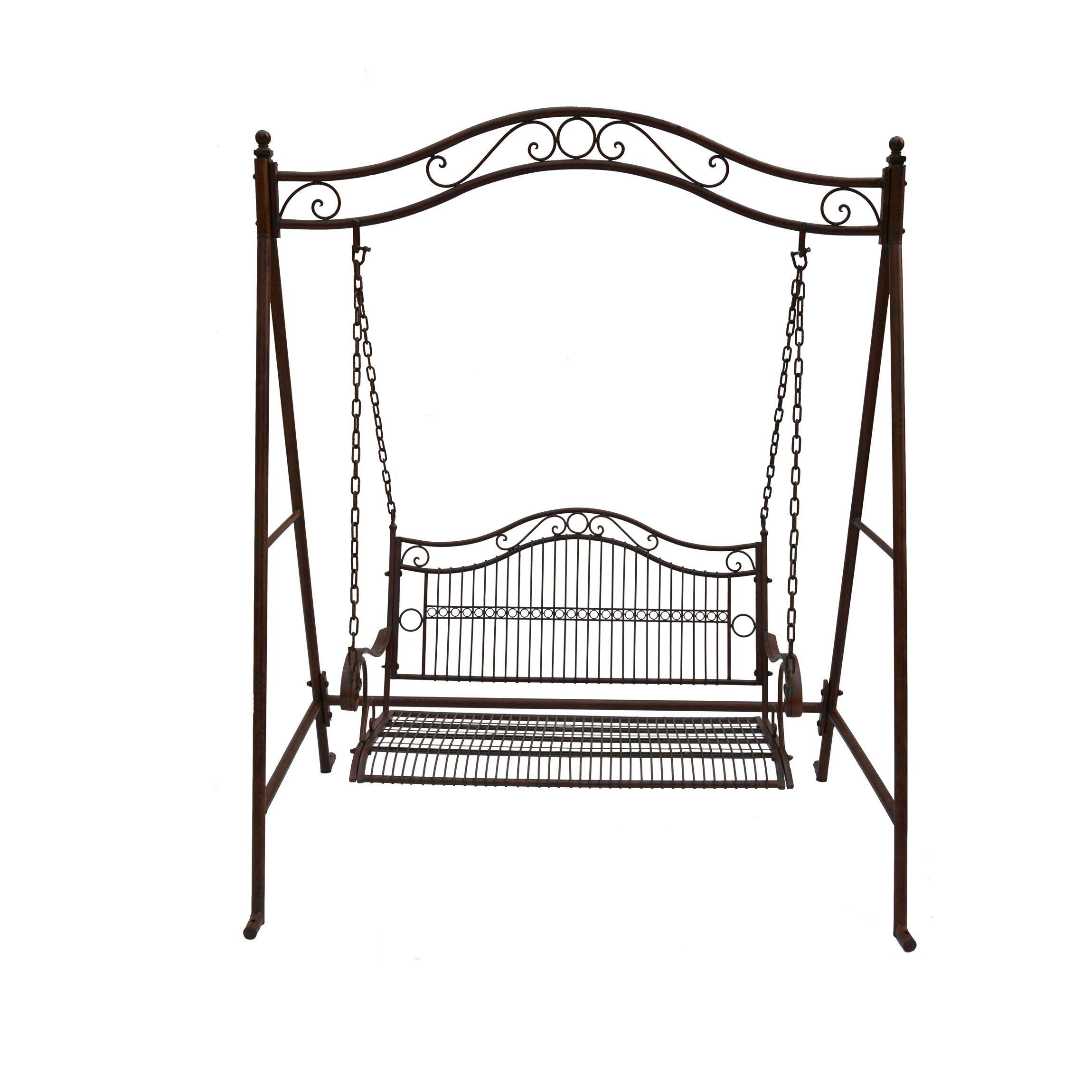 Swing 2 Seat Bunnings Warehouse | Rustic Irons, Swing Seat In 2 Person Antique Black Iron Outdoor Swings (View 2 of 25)