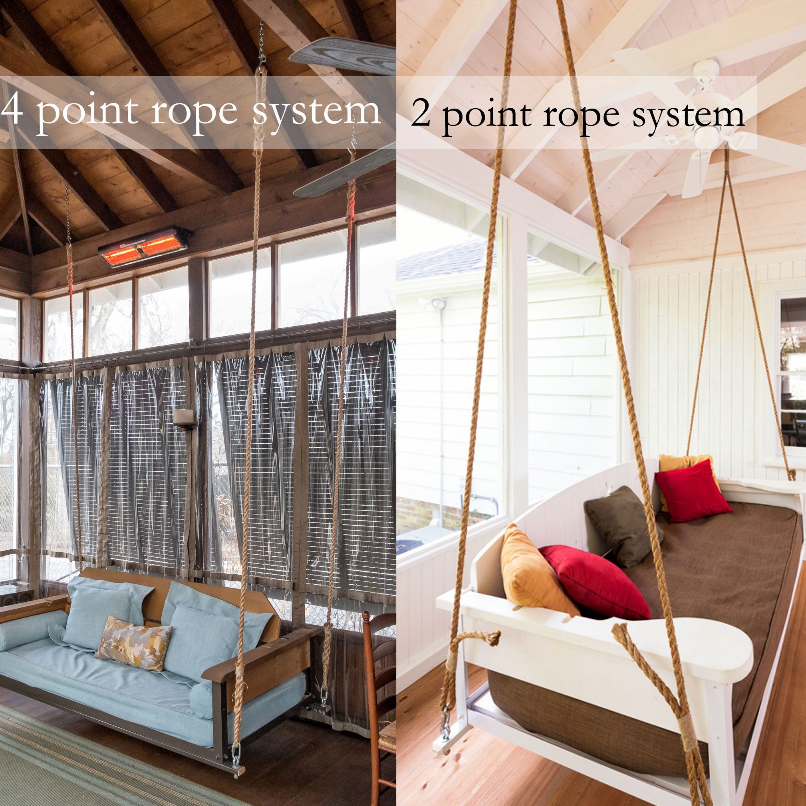 Featured Image of Hanging Daybed Rope Porch Swings