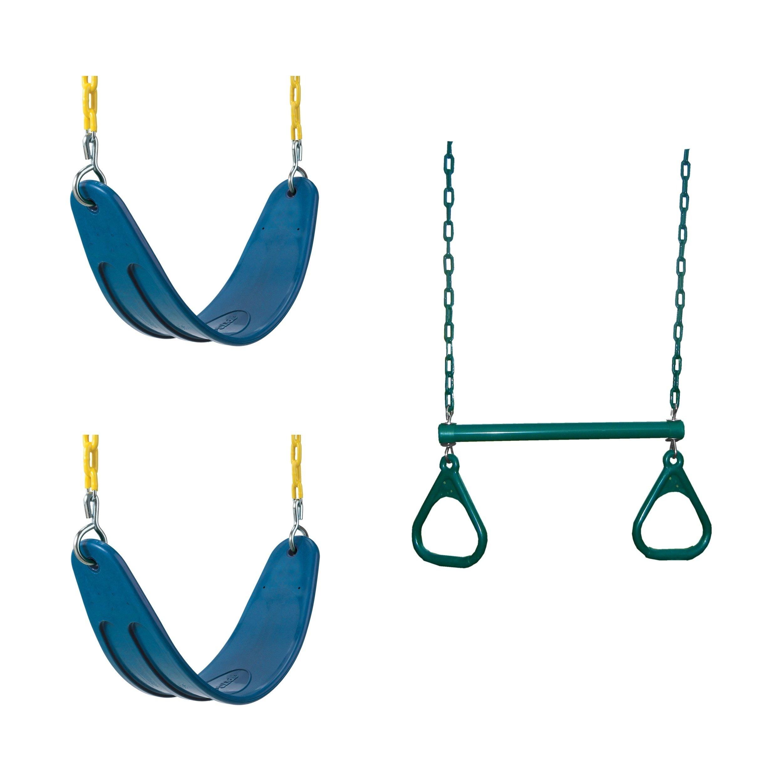 Swing N Slide 2 Blue Extreme Duty Swing Seats With Chains Throughout Swing Seats With Chains (View 2 of 25)