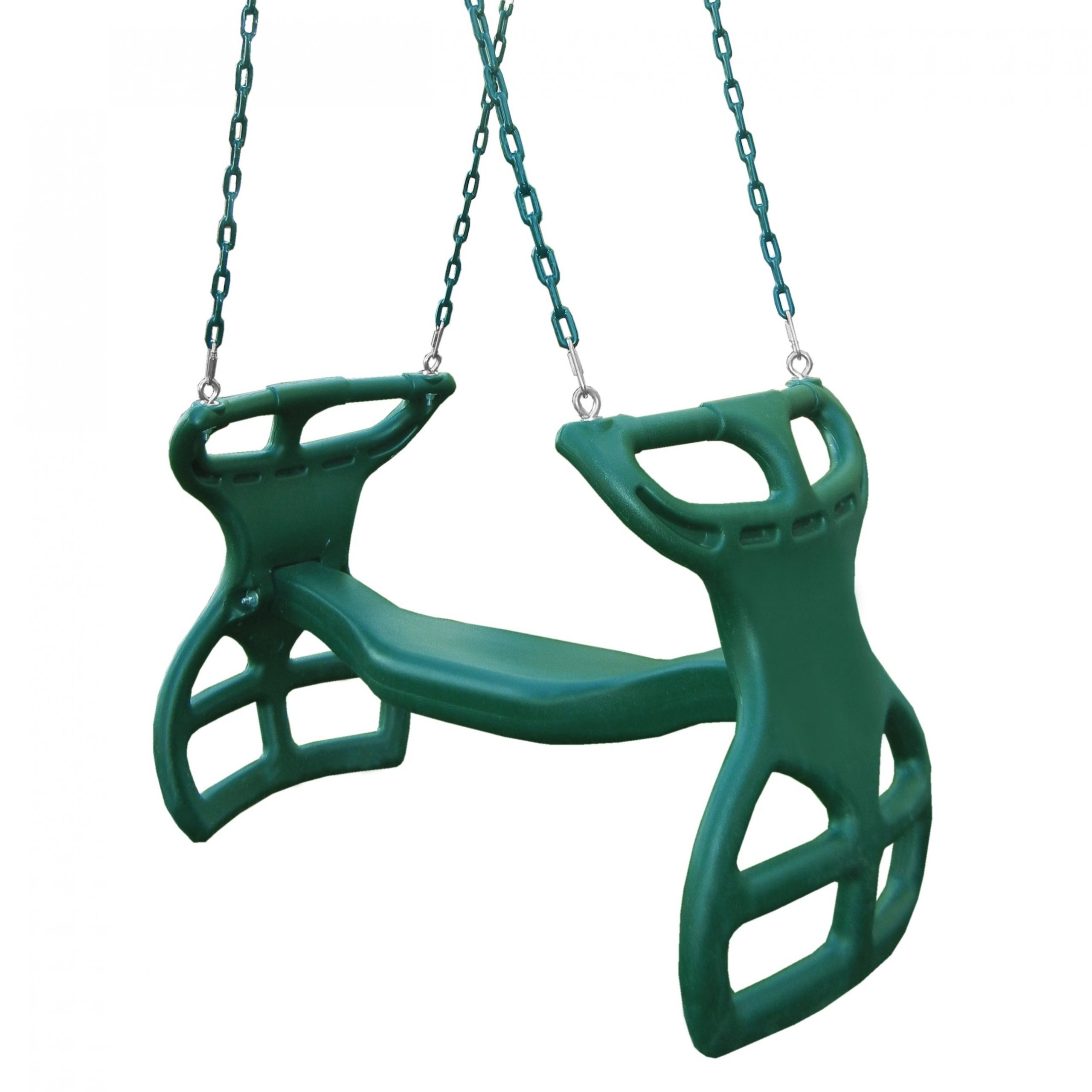 """Swing N Slide Dual Ride Glider With Chains – Green – 38"""" L X 16"""" W X 24"""" H In Dual Rider Glider Swings With Soft Touch Rope (View 5 of 25)"""