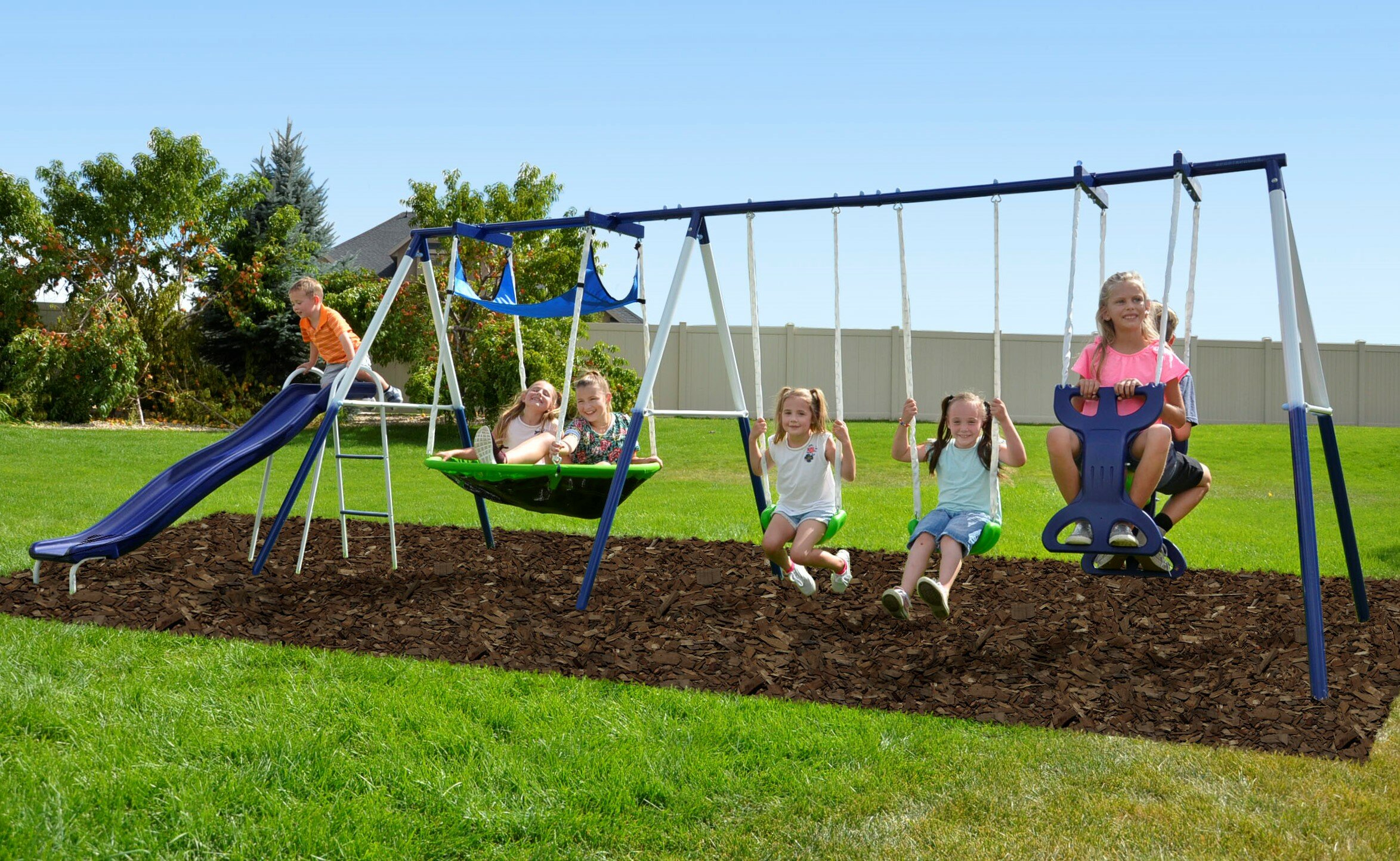 Swings Glider | Wayfair In Dual Rider Glider Swings With Soft Touch Rope (View 14 of 25)