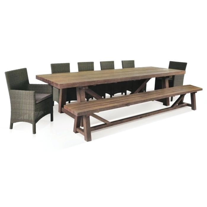 Table With Bench Seating – Minideck (Image 23 of 25)