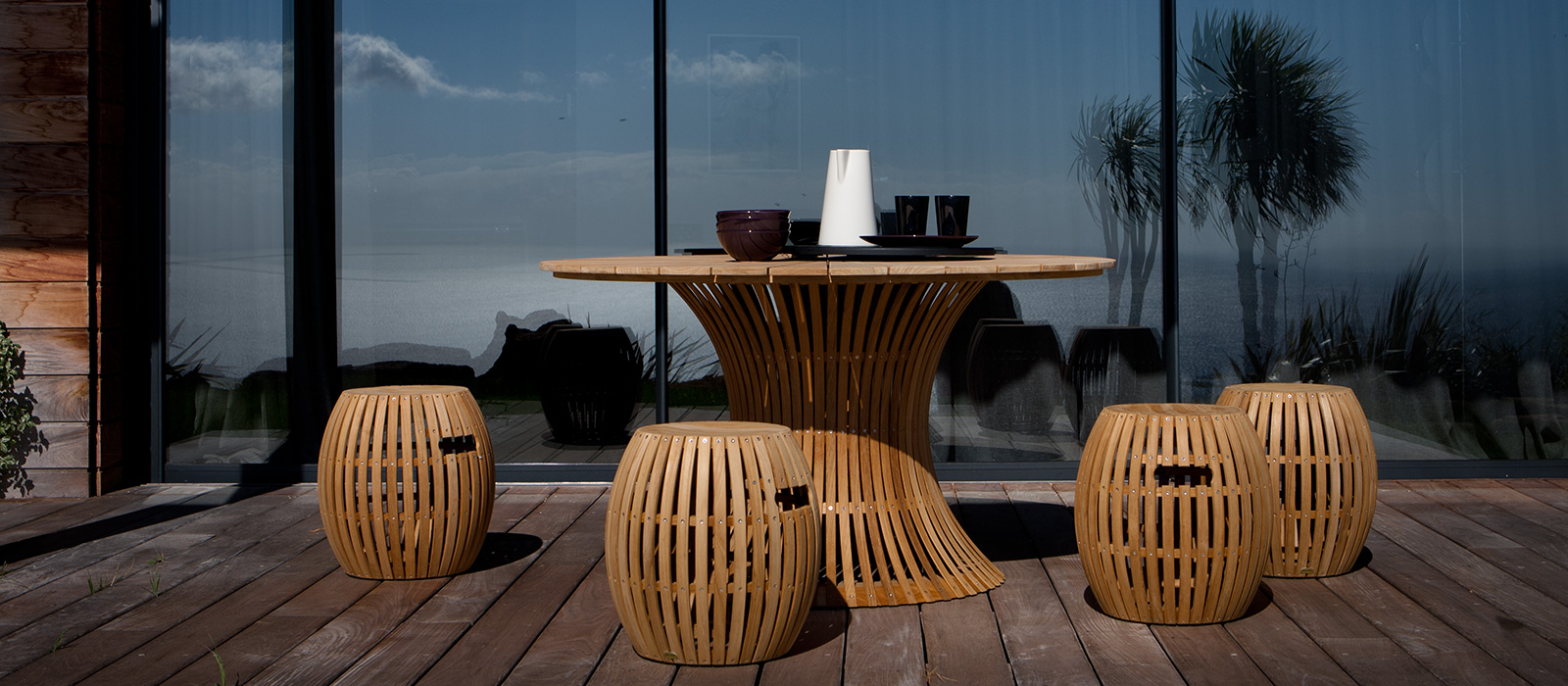 Tables Wooden – Tables – Garden Furniture – Products Unopiù Intended For 3 Person Light Teak Oil Wood Outdoor Swings (View 21 of 25)