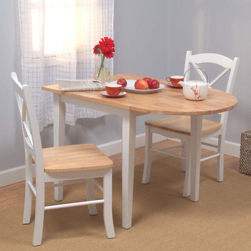 Target Marketing Systems Tiffany 3 Piece Dining Table Set For 3 Pieces Dining Tables And Chair Set (View 13 of 25)