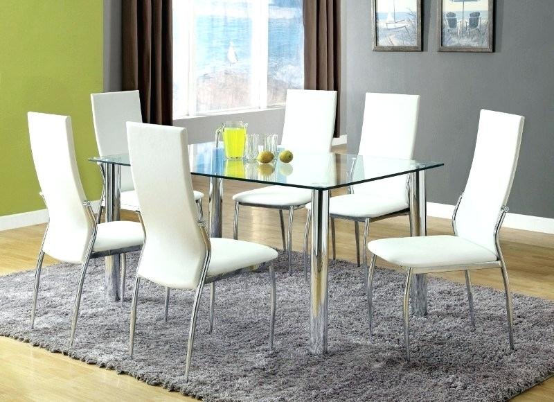 Tempered Glass Dining Table Top – Salespots Inside Chrome Dining Tables With Tempered Glass (View 15 of 25)