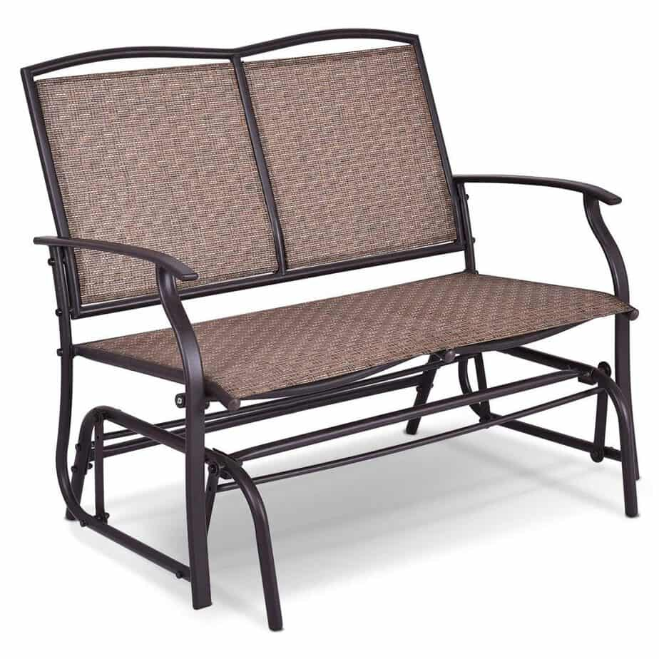 The 10 Best Patio Gliders (2020) Intended For Outdoor Steel Patio Swing Glider Benches (View 12 of 25)