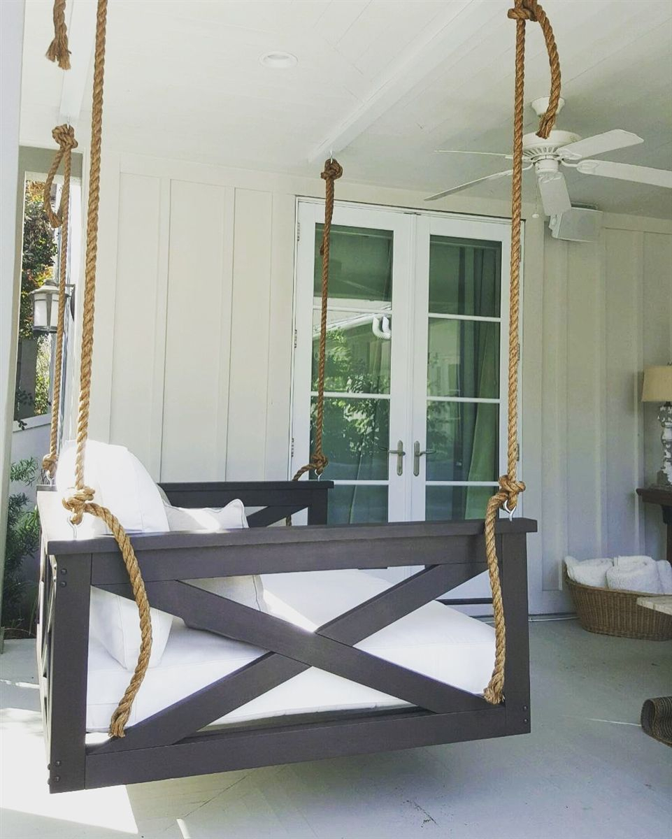 The ''cooper River'' Swing Bed | Porch Swing, Diy Porch, Home Within Country Style Hanging Daybed Swings (View 12 of 25)