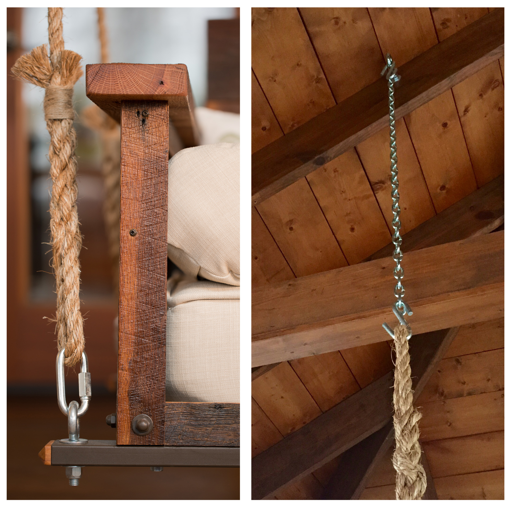The Craftsman Pine Bed Swing In Hanging Daybed Rope Porch Swings (Image 25 of 25)