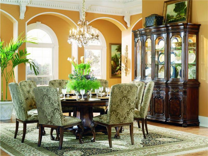 The Large Round Dining Table For 8 | Dreamehome Throughout Elegance Large Round Dining Tables (Image 25 of 25)