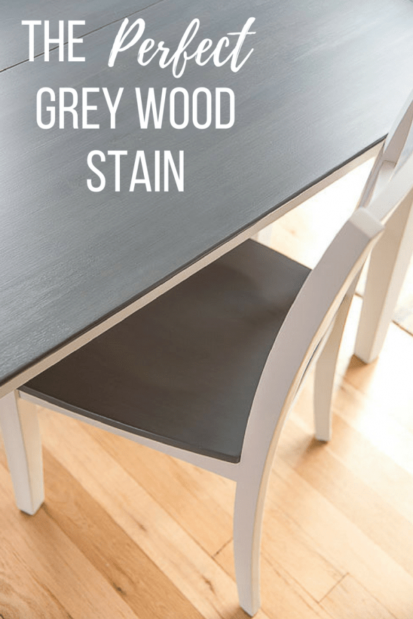 The Perfect Grey Wood Stain – The Handyman's Daughter Pertaining To Distressed Grey Finish Wood Classic Design Dining Tables (Image 23 of 25)