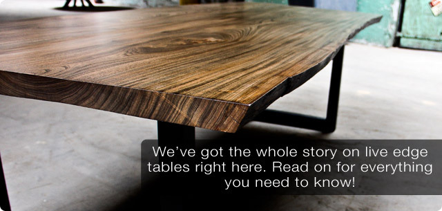 The Story On Live Edge Dining Tables | Modern Digs Throughout Walnut Finish Live Edge Wood Contemporary Dining Tables (Image 23 of 25)