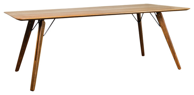 Theo Dining Table In Fumed Oaknuevo Pertaining To Fumed Oak Dining Tables (View 7 of 25)