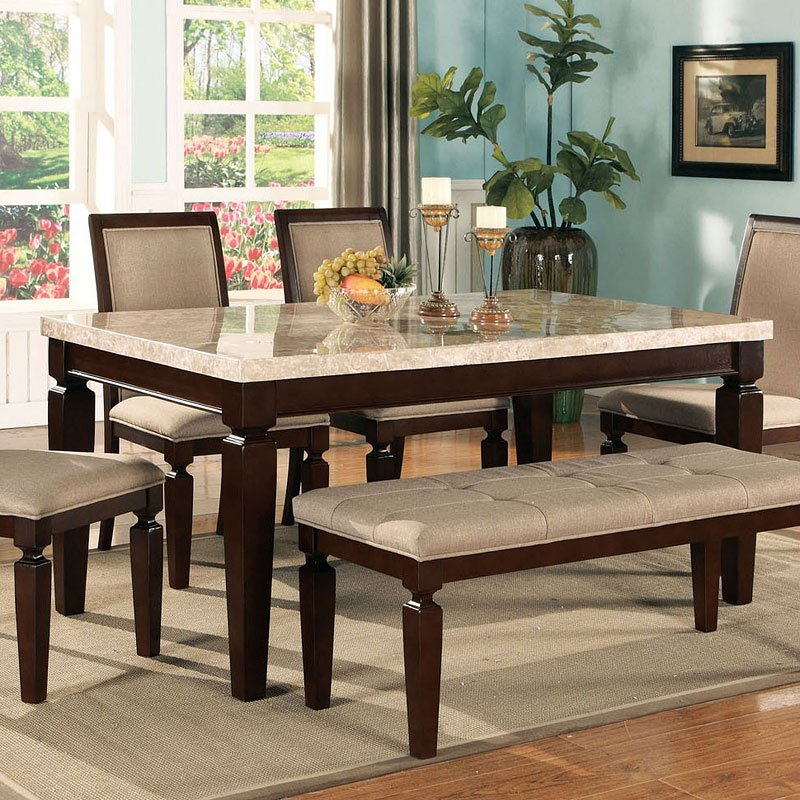 Things You Need To Know About Marble Top Dining Table Throughout Wood Top Dining Tables (View 15 of 25)