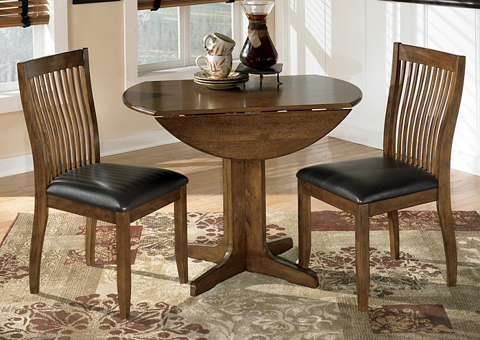 This Is It Furniture Stuman Round Drop Leaf Table & 2 Side In Transitional 4 Seating Drop Leaf Casual Dining Tables (Image 23 of 25)