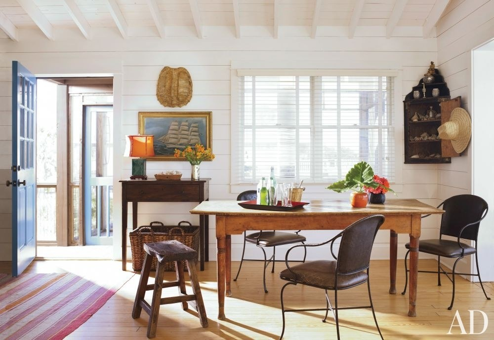 Tips For Mixing Wood Furniture And Finishes | Architectural Inside Walnut And Antique White Finish Contemporary Country Dining Tables (View 16 of 25)