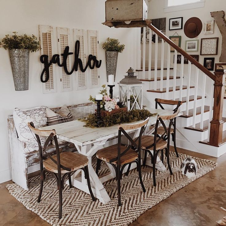 To Create The Rustic Look Of The Farmhouse Dining Room, It With Regard To Small Rustic Look Dining Tables (Image 24 of 25)