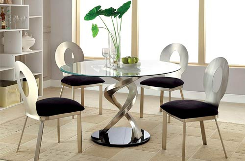 Top 10 Best Modern Round Glass Dining Tables For Kitchen Reviews With Regard To Round Glass Top Dining Tables (View 20 of 26)