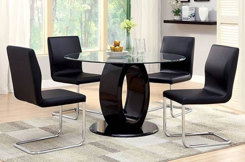 Top 10 Best Modern Round Glass Dining Tables Reviews In 2020 Pertaining To Modern Round Glass Top Dining Tables (Image 25 of 25)