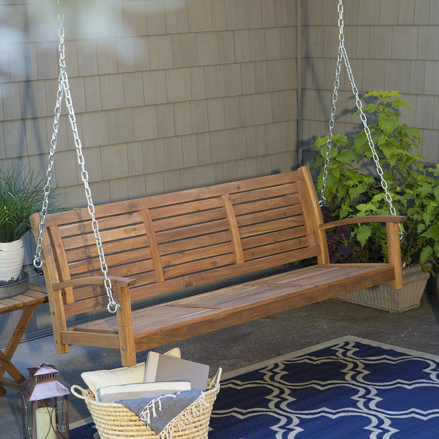 Top 10 Best Porch Swings In 2020 Reviews | Buyer's Guide Throughout 3 Person Natural Cedar Wood Outdoor Swings (View 17 of 25)