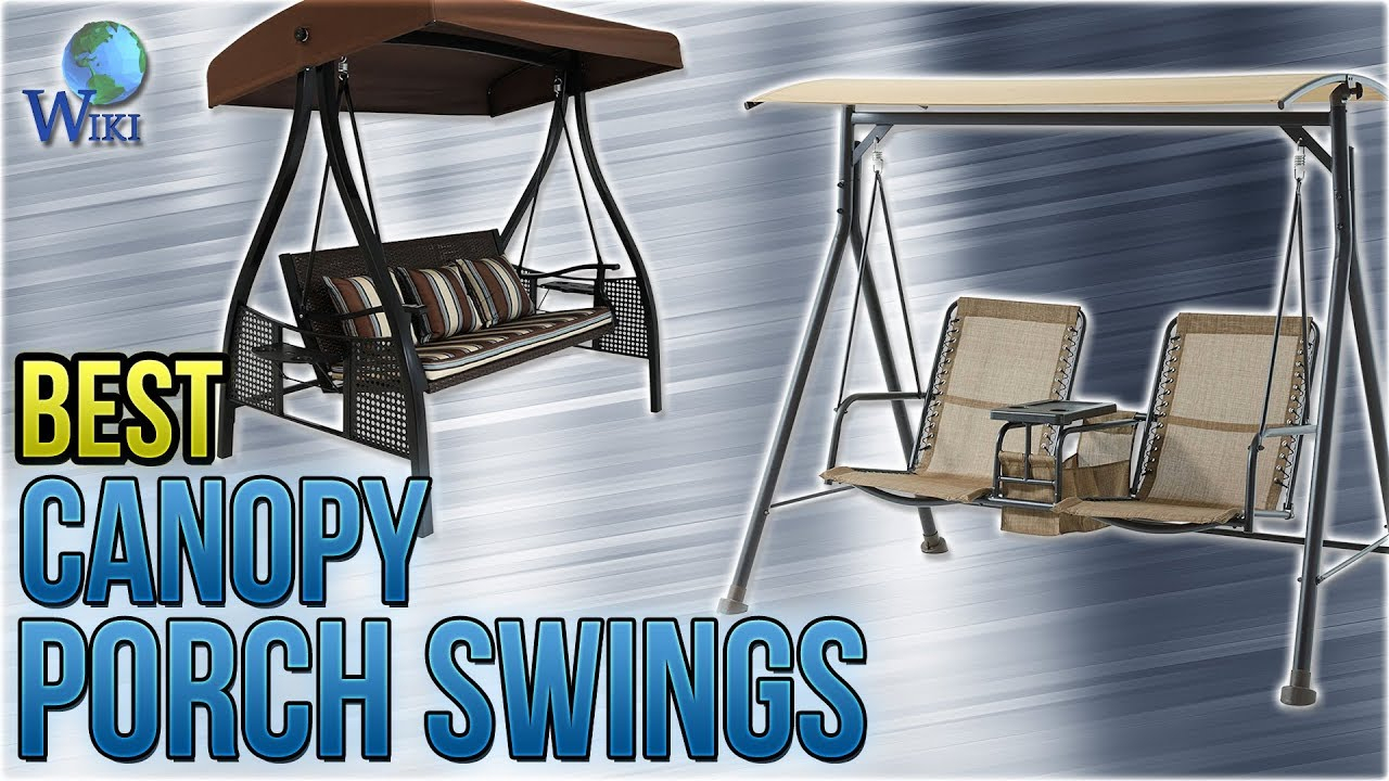 Top 10 Canopy Porch Swings Of 2019   Video Review Throughout Canopy Patio Porch Swings With Pillows And Cup Holders (View 15 of 25)