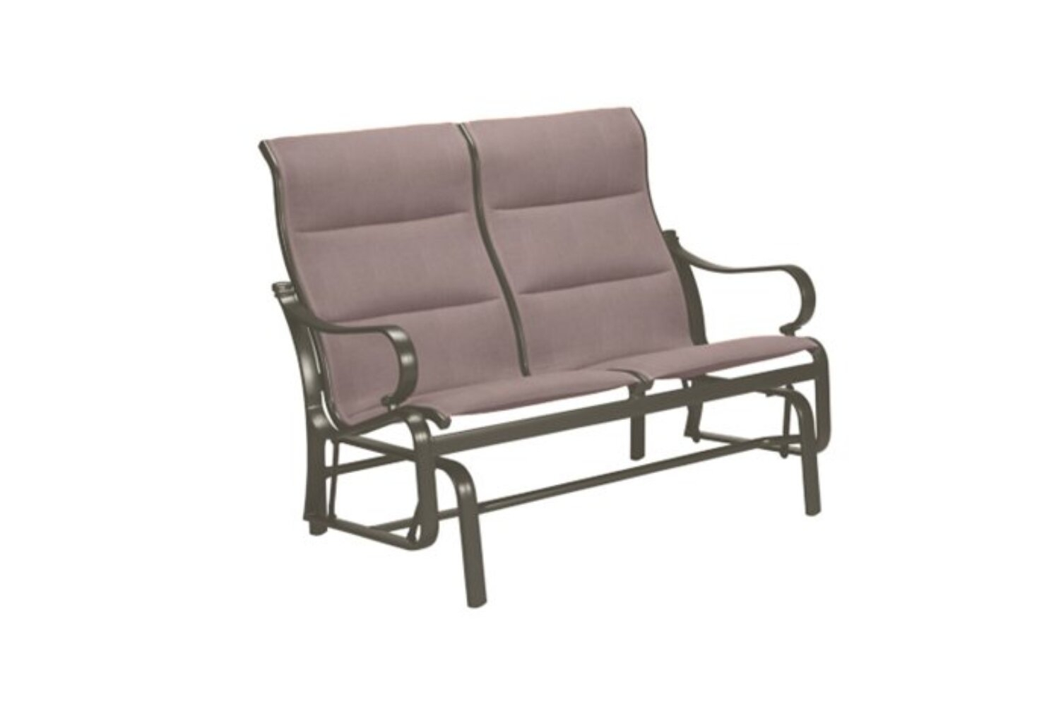 Torino Padded Sling Double Glider Chair With Cushion Within Padded Sling Double Glider Benches (View 17 of 25)