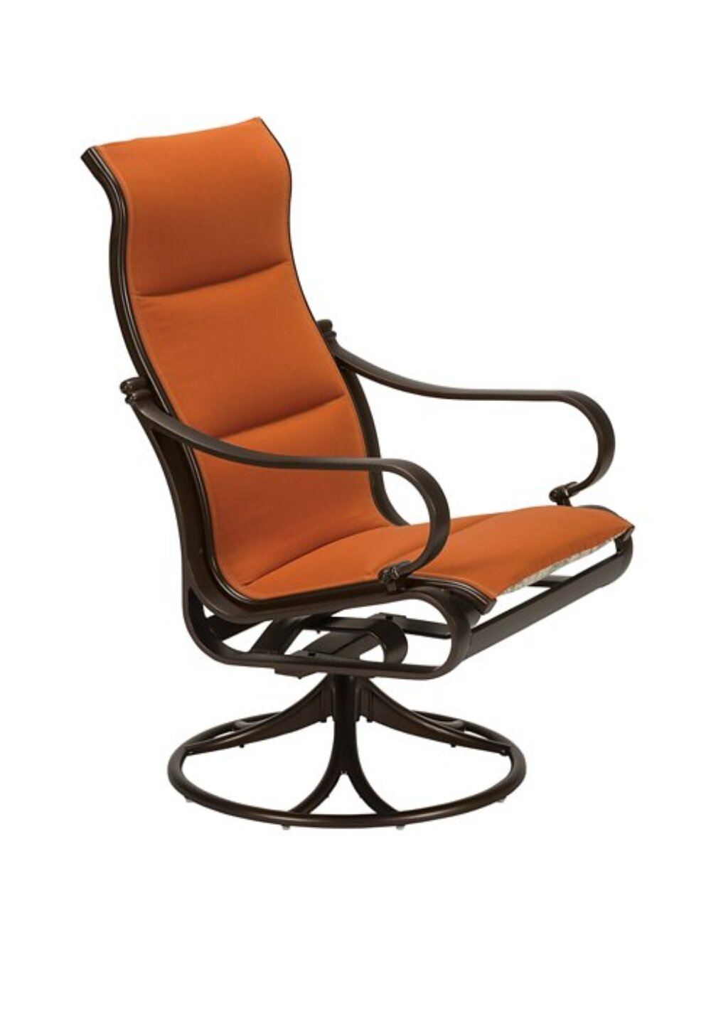 Torino Padded Sling High Back Swivel Rocking Chair With Cushion For Padded Sling High Back Swivel Chairs (View 10 of 25)