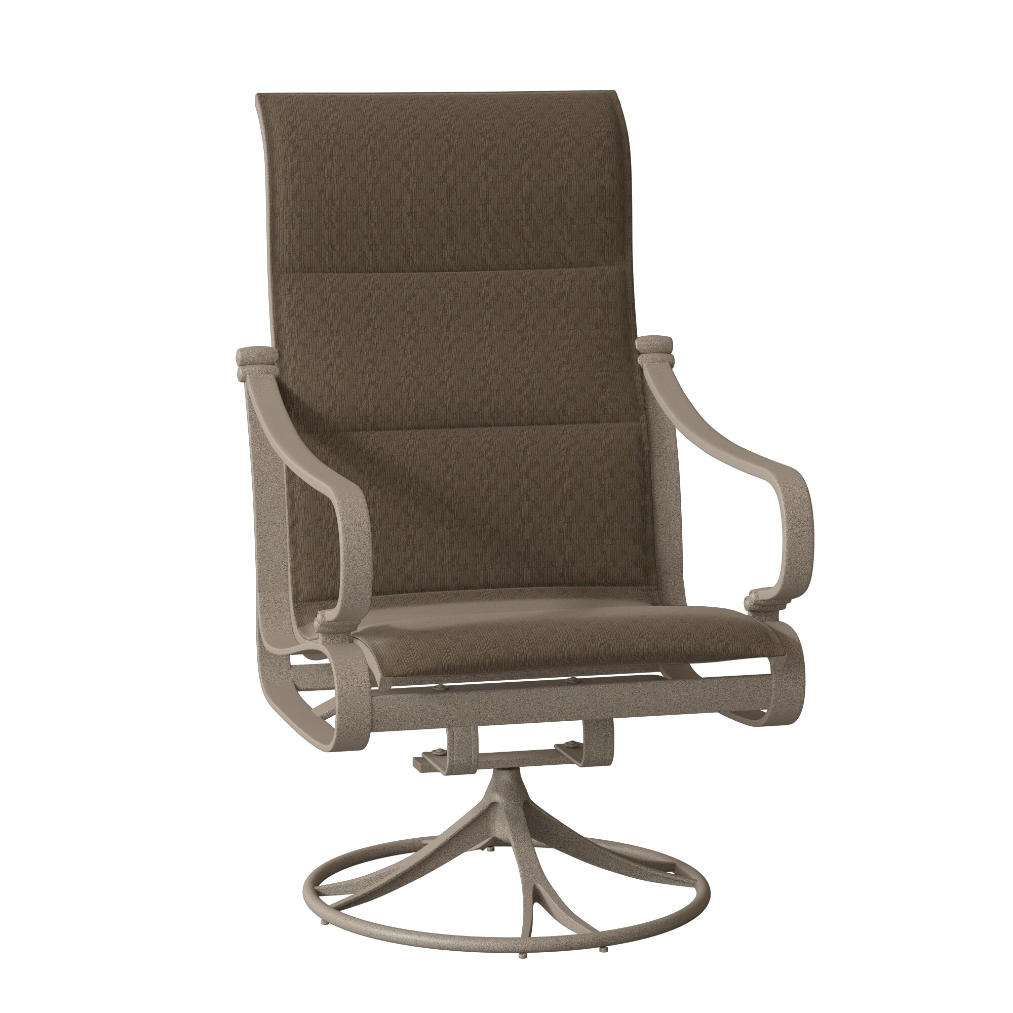 Torino Padded Sling High Back Swivel Rocking Chair With Cushion Pertaining To Padded Sling High Back Swivel Chairs (View 17 of 25)